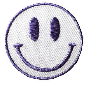 Purple and White Smiley