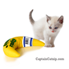 Captain Catnip Best Cat Banana Toy 100% Filled Organic Catnip