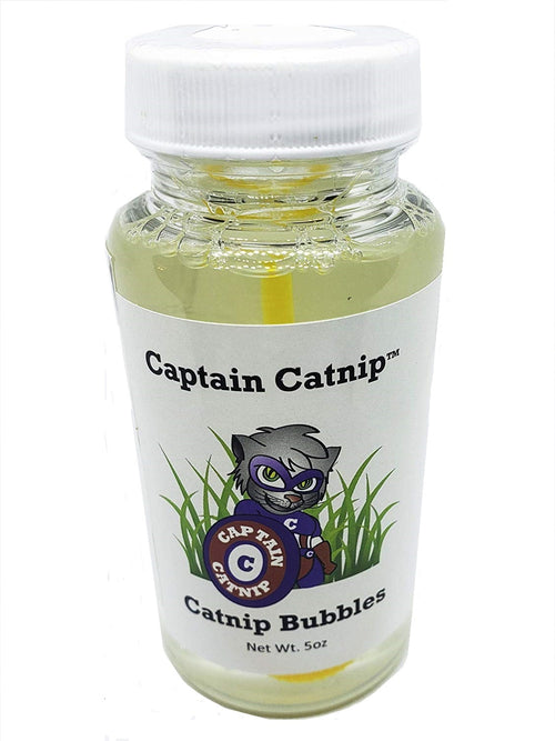 Catnip Infused Bubbles : 5 ounce bottle