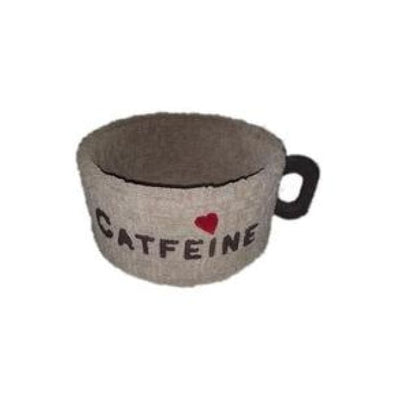 Cat Bed: Coffee Cup Design Catfeine by Captain Catnip
