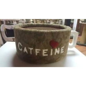 Cat Bed: Catfeine Coffee Cup Design Handcrafted In Usa - Cat Furniture