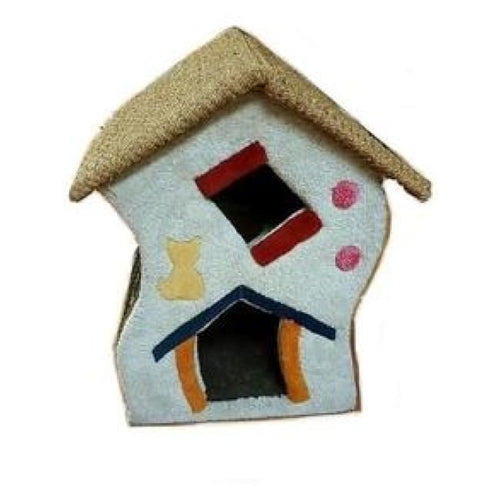 Cat home with 2 levels wrapped in premium carpet