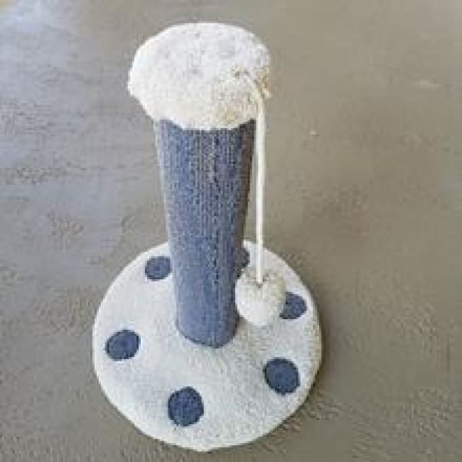 Cat Scratch Post Premium Carpet And Pom-Pom - Cat Furniture