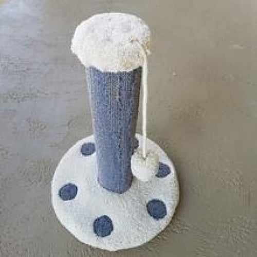 Cat Scratch Post Premium Carpet and Pom-Pom