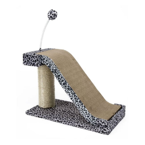 Cat Scratching Post And Pad With Toy Leopard Print