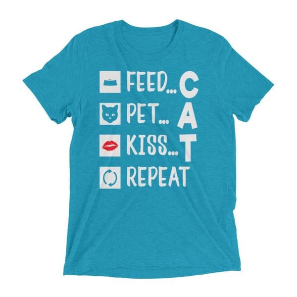 Cat T Shirt Feed Pet Kiss Repeat