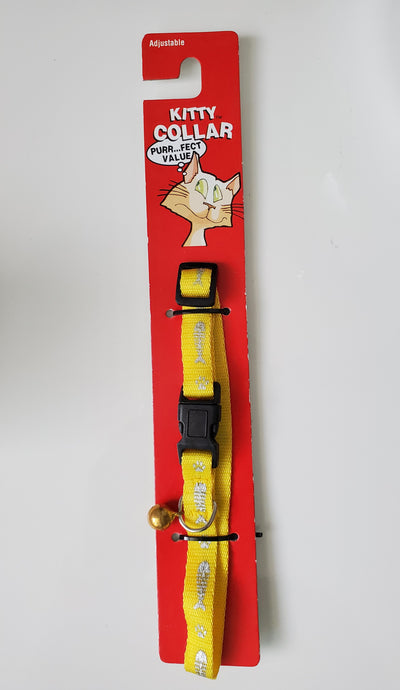 Nylon Cat Collar with Breakaway design and safety bell