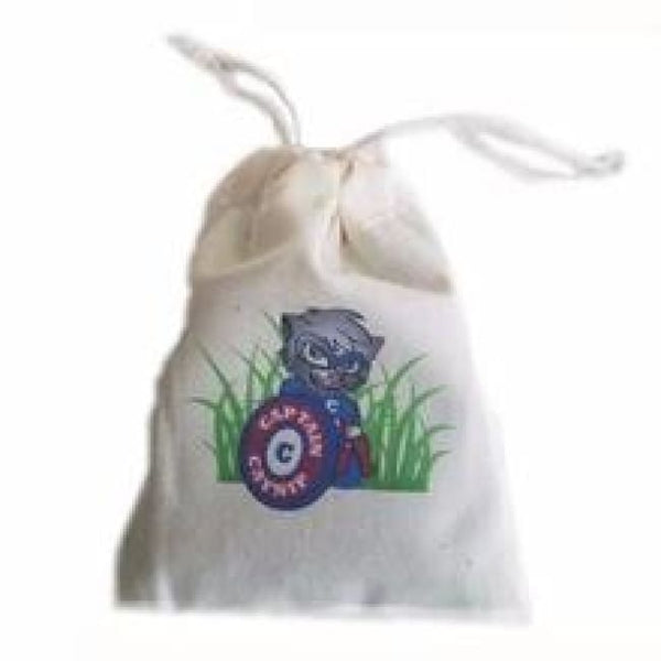 Catnip Toy Bag with drawstrings, prefilled with catnip : 1/2 ounce
