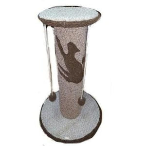 Extra Large Scratch Post With 4 Pom-Poms And Handcrafted In America - Cat Furniture