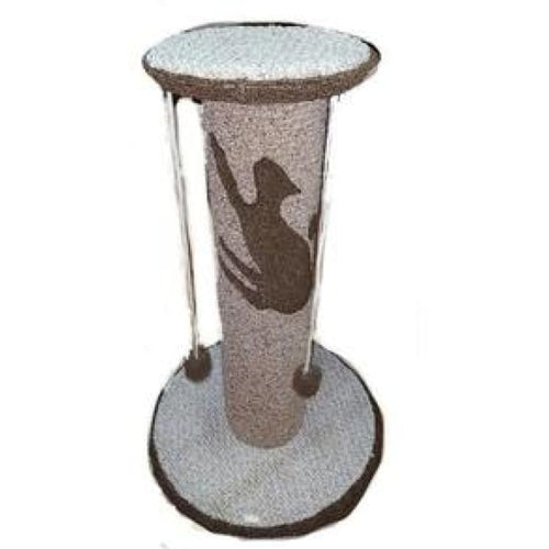 Extra Large Scratch Post with 4 pom-poms and handcrafted in America