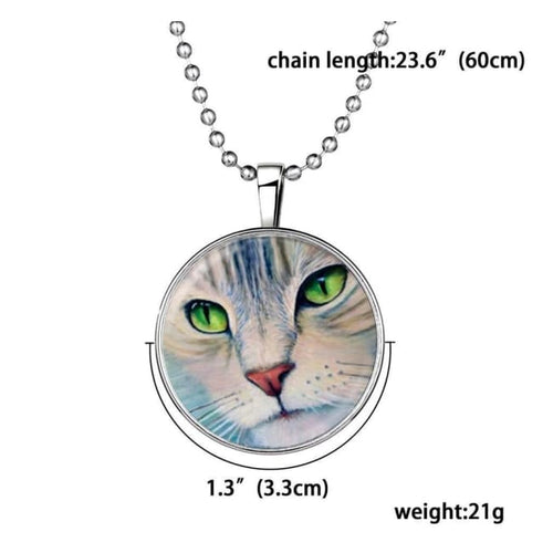 Glow in The Dark Kitty Cat Pendant & Necklace