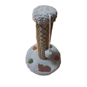 Scratch Post Wrapped In Sisal Rope With Pom-Pom Toy - Cat Furniture