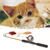 Captain Catnip Cat Toys Teaser Wand Fish Shape Feather Funny Pet Toy For Bored Cat