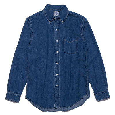 Button Down Denim Shirt in Used Wash
