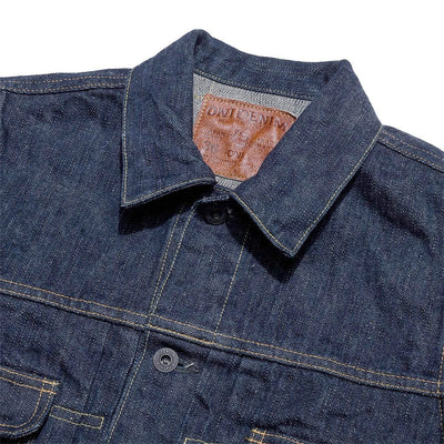 02516P-GCKHN 17oz Green Cast Oni Denim Jean Jacket