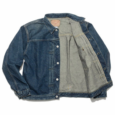 Pleated Front Jean Jacket - 1 Year Wash