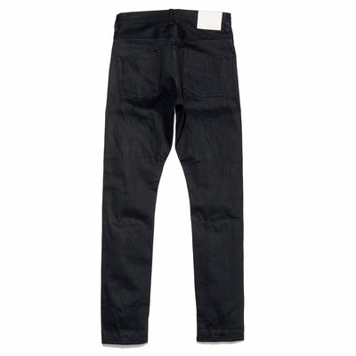 033 14oz BLK x BLK High Rise Tapered Slim Leg Fit Jeans
