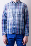 2211-1 Indigo Check Shirt - Red