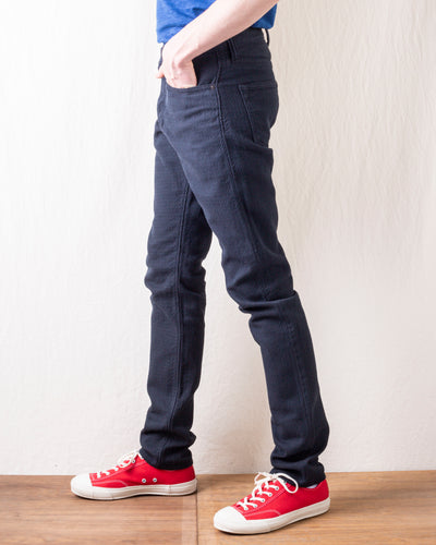 1153-BB Double Black Selvedge Sashiko Relaxed Tapered