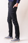 1161-BB PBJ x Blue In Green 13oz Double Black Stretch Slim Tapered Jeans