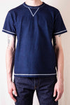 Heavyweight Indigo Dyed V-Gusset T-Shirt