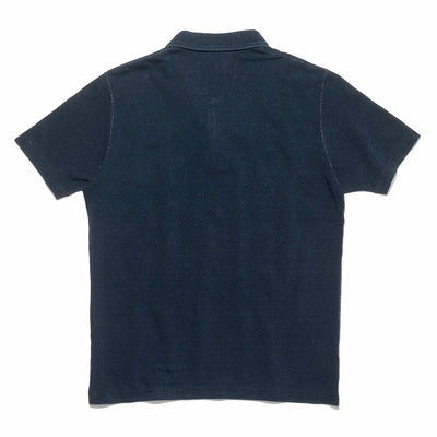 Green Cast Indigo Rope Dyed Polo Shirt