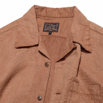 Amami Dorozome Open Shirt - Brown (Light)