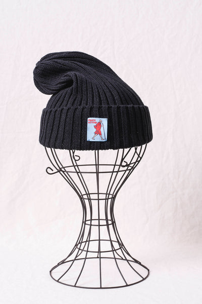 5G Cotton Knit Cap - Black