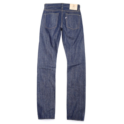 AI-13-TSM Hand Dyed Natural Indigo Tapered Slim Jeans (Size 28)