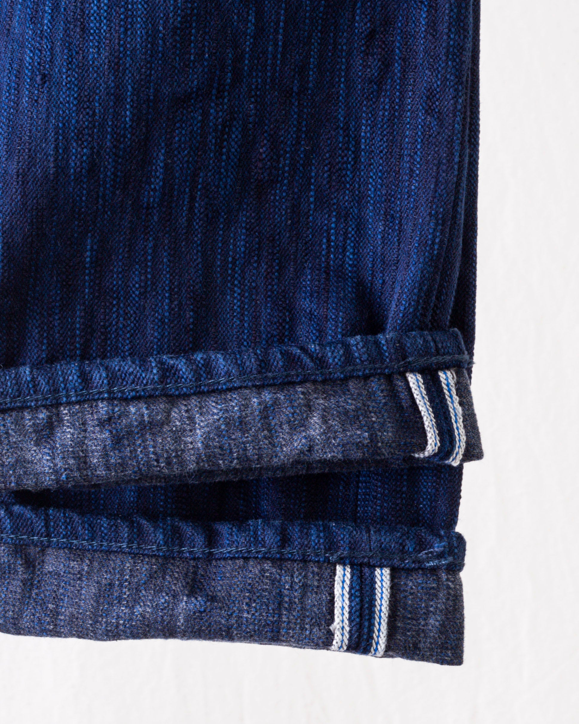 AIBK-019 Natural Indigo x Sumi Relaxed Tapered Blue In Green Exclusive Version