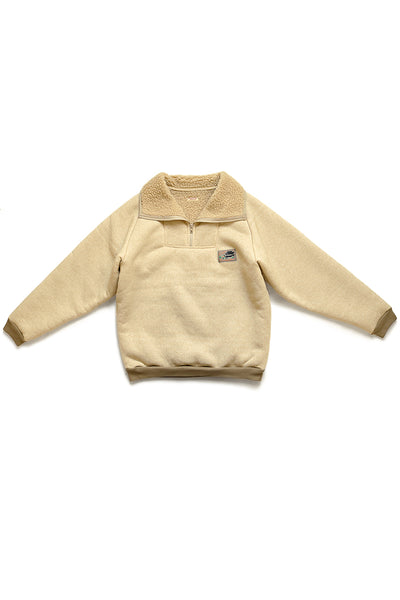BOA Fleece ZIP ALPINE Pullover - Natural