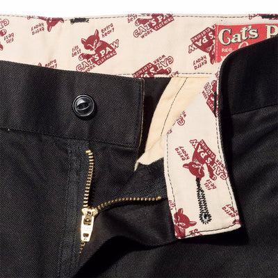 Cat's Paw Slim Fit Chino in Antique Black
