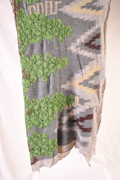 Compressed Wool Scarf NAVAJO VINEYARD - Green
