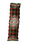 Compressed Wool Scarf TARTAN AINU - Green