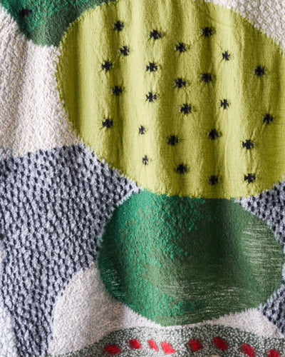 Compressed Wool Scarf CACTUS - Green