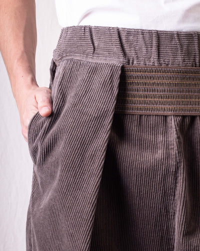 8W Stretch Corduroy SHIMOKITA Tailored Pants - Grey