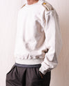 Fleece Knit KAMOME Crew SWT (RAIN SMILE) - Natural