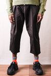 Combed Burberry Cotton EASY-BEACH-GO Pants - Dark Gray