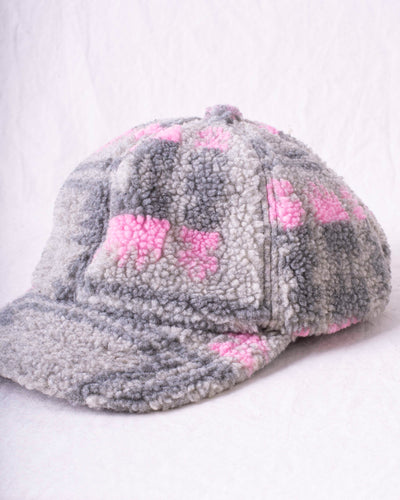 Boa Fleece Baseball Cap - Grey