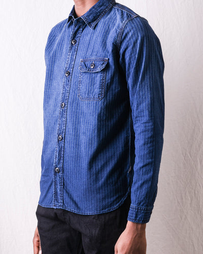 2206 Sunburned Pinstripe Chambray Work Shirt