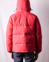 Nylon/Cotton Down Jacket - Red