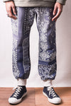 Fleece Knit BANDANA SWT Pants - Purple Navy