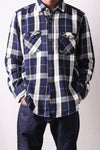 Indigo Flannel Check Shirt