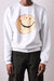 ECO Fleecy Knit Crew SWT (TRUNK SMILE) - White