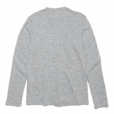Lambs Wool Jersey Henley T - Light Gray