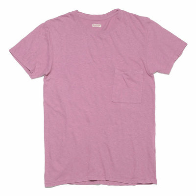 Gauze Jersey Crew Pocket T-shirt in Pink