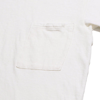 Gauze Jersey Crew Pocket T-shirt in White
