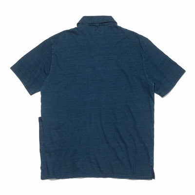 Indigo Dyed Jersey PEMMICAN Polo Shirt