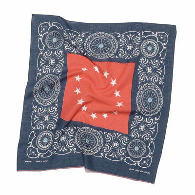 Fastcolor Selvedge Bandana (Betsy Ross Flag x Concho) in Navy