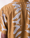 Silk Rayon EAGLE JEWEL Aloha Shirt - Gold